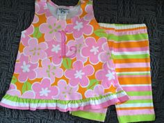 A personal favorite from my Etsy shop https://www.etsy.com/listing/225432088/personalized-girls-outfit-set-custom