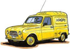 Renault 4 Fourgonette - Illustration by Carl Johan Rehbinder [my own car]
