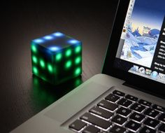 Desk Top Interactive Puzzle Cube With LEDs