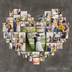 4 Diferent cuore foto Collage Template PSD. Regalo di DesignBoutiQ