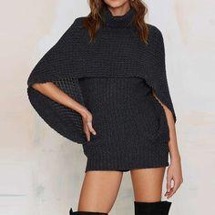 Solid Bodycon Knitting MIni Dress LAVELIQ