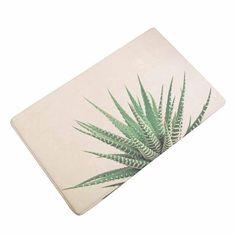 Succulent Plant Leaves Floor Rug Carpet Mat Bathroom Non-slip Pad Door 40x60cm