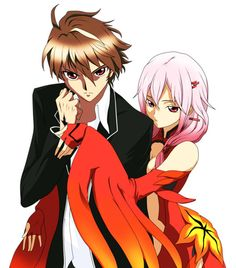 Shu and Inori. Their expressions look like Lelouch and C.C.