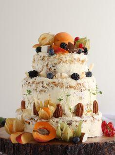 fruit laden carrot cake