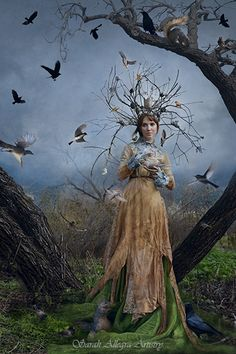 The Court Of The Dryad Queen by Sarah Allegra. Costume and crown hand-made.