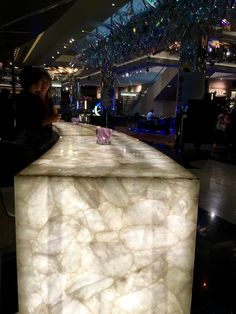 PHOTO 2: This gorgeous onyx stone was used as a feature in the Lumia bar at the Crown Casino, Melbourne. Due to its natural translucency, the onyx is a perfect stone to create an illuminated furniture piece. This is a truly creative, sophisticated and eye catching design.