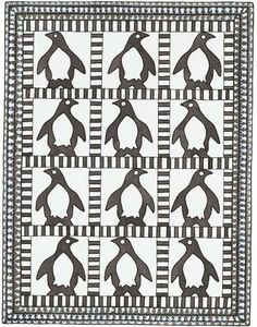 #Penguin Baby #Quilt #Pattern online...that would be awfully cute made up. #sewing #diy