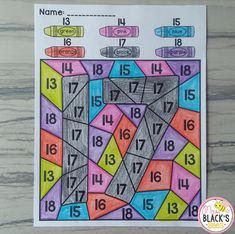 FREE Teen Numbers Color by Code