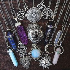 #bohojewelry. mineral. crystal pendants.