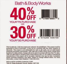 free printable coupons bath and body works coupons