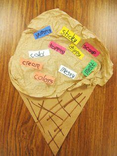 First Grade Wow: craft connection  Ice cream cone #babysitting