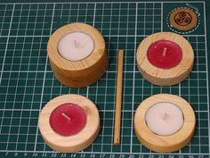 undefined Tea Lights, Handmade Jewelry, Candles, Wood, Gifts, Presents, Woodwind Instrument, Tea Light Candles, Timber Wood