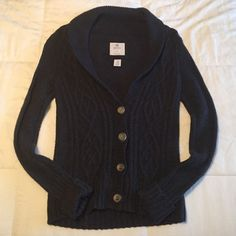 Cozy Cardigan Aerie navy blue cardigan! Super comfy!! Only worn once! aerie Sweaters Cardigans
