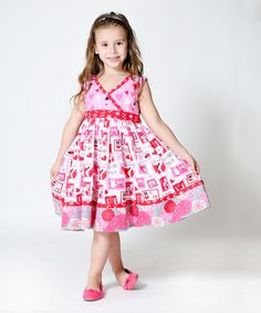 Look what I found on #zulily! Pink Love Letter Abbey Dress - Infant, Toddler & Girls #zulilyfinds