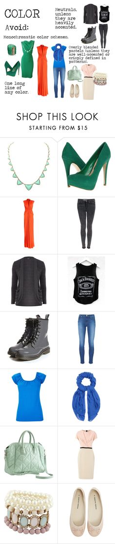 """Flamboyant Gamine (FG) Color to avoid"" by lightspring ❤ liked on Polyvore featuring Rosantica, House of Harlow 1960, Steven, Issa, Topshop, Dorothy Perkins, J Brand, Wallis, M Missoni and Pieces"