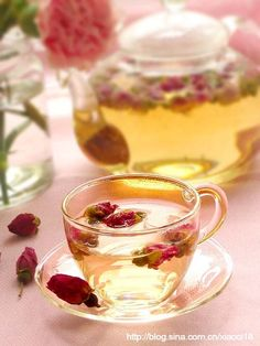 """Drink your tea slowly and reverently, as if it is the axis on which the world earth revolves - slowly, evenly, without rushing toward the future."" ~ Thích Nhất Hạnh ♥♥ beautiful cup of rose tea..."