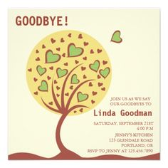 20 farewell party invitation templates psdaiindesignword heart tree farewell party invitation stopboris Gallery