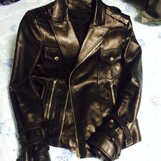 Balmain Homme, 2014 spring, Biker Leather Jacket By Olivier Rousteing