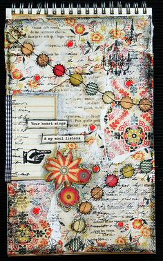 art journal mixed media inspiration Today Im in a soulful mood and inspired to make some art. How about some art journal pages? Great idea, great start of the day, any Art Journal Pages, Art Journals, Mixed Media Journal, Mixed Media Art, Tattoo Word, Art Doodle, Art Disney, Creative Journal, Illustration