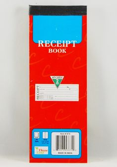 """Receipt Book With Carbon Paper - 7.5"""""""" x 2.75"""""""" Case Pack 24"""