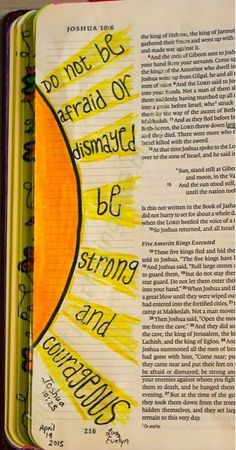Easy Bible Art Journaling Journey: Joshua 10:25 (April 19th)