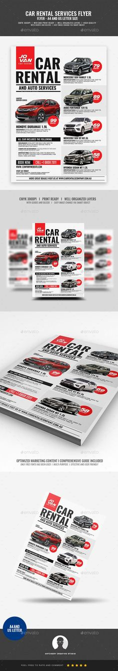 a4 flyer, advertisement, automobile, car, car for hire, car for rent, car lease, car rent, car services, car shop, for hire, for rent, handout, lease, mechanic, passenger, rent, rent a car, rental, rental services, service rental, van for hire, vehicle Car Rental and Services Flyer Design Template   Boost your company's sales and attract new customers! This Car Rental and Services Flyer Design Template have been developed to boost your Ultimate Marketing strategy and brand/product…