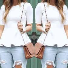 Fashion Women Casual Short Sleeve Loose Summer Cotton Tops T Shirt Blouse White Shirt Blouses, Shirts, Casual Party, Blouse Styles, Types Of Sleeves, Style Guides, Casual Shorts, Womens Fashion, Cotton