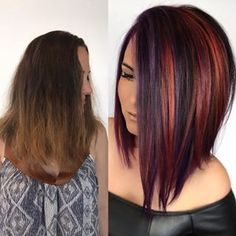 Still obsessing over this one #headrushdesigns . Cut on this baby by @styled_by_carolynn . . #behindthechair #btconeshot_colortransformation18 #modernsalon #joicointensity #beforeandafter #vividhair #utahstylist #hairgoals #shorthairgoals #purplehair #avesalon #rainbowhair #mermaidhair #transformationtuesday