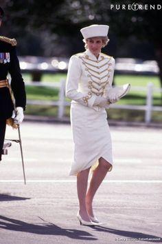Princess Diana -  the Sovereigns Parade , le 10 avril 1987
