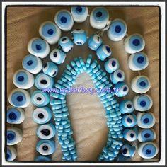 Yeni sipariş için kullanacağımız mavi nazar boncukları :)