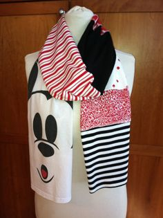 Mickey scarf!!! upcycled from old tee's. Love it.