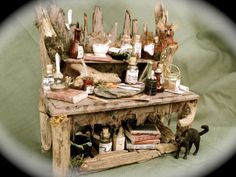 Dolls House Miniatures - Twitchty Twooooooo  Table. $195.00, via Etsy.