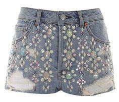 Crime of Fashion: DIY: Embellished shorts