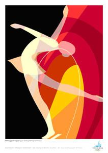 Torino 2006 FIGURE SKATING Official Poster - Turin Olympic Winter Games - available at www.sportsposterwarehouse.com
