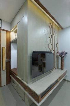 Modern Tv Unit Designs, Modern Tv Wall Units, Living Room Tv Unit Designs, Tv Unit Bedroom, Room Design Bedroom, Home Room Design, Tv Cabinet Design, Tv Wall Design, Foyer Design
