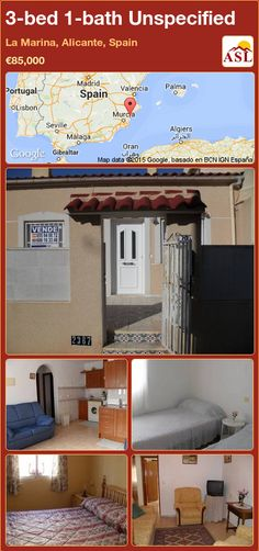 Unspecified for Sale in La Marina, Alicante, Spain with 3 bedrooms, 1 bathroom - A Spanish Life Alicante Spain, Back Patio, Murcia, Seville, Malaga, Townhouse, Stairs, Lounge, Bathroom