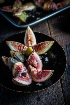 Zimt und Honig-Feigen mit gebackene Sweet Ginger Scheiben {Katie an der Küchentür}