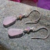 Rare lavender sea glass earrings