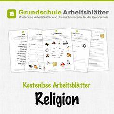 Kostenlose Arbeitsblätter Religion