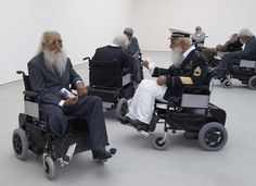 Sun Yuan and Peng Yu, Old Persons' Home. Saatchi Gallery (King's road). 2008