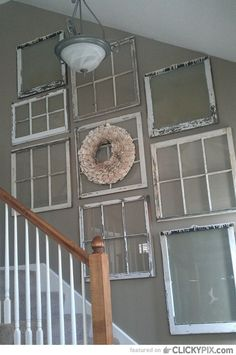 46 Creative DIY Ideas Using Old Windows in Your Home - Clicky Pix