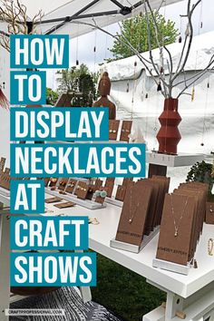 10 Commercial and DIY necklace stand ideas to help you design your jewelry displays for craft shows. Lots of vendor booth ideas for craft fairs & markets. display 10 Necklace Stand Photos to Inspire Your Jewelry Booth Design Vendor Displays, Craft Booth Displays, Vendor Booth, Jewelry Booth, Jewellery Display, Display Ideas For Jewelry, Diy Necklace Stand, Kids Necklace, Craft Show Booths