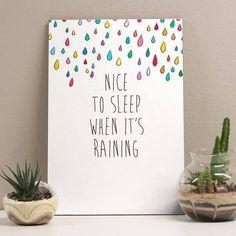 placa raining days 20x29