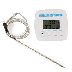 Temperature Gauges Beautiful Gauge Digital Barbecue Timer Food Cooking Tool Bbq Thermometer Digital Probe Meat Temperature Top Watermelons Household Merchandises