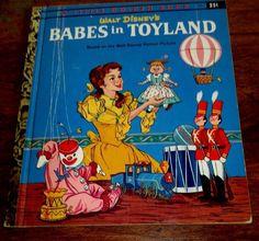 "WALT DISNEY'S BABES IN TOYLAND--LITTLE GOLDEN BOOK D97 //1961 ""A"" COPY"