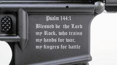 Gun Maker Creates 'Crusader' Assault Rifle With Bible Verse On It