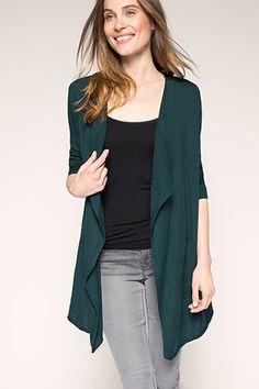 long, fine-knit cardigan in a cotton blend Long Cardigan, Knit Cardigan, Grey Skinny Jeans, Pullover, Neue Trends, Knitwear, Fashion Accessories, Bell Sleeve Top, Women Wear