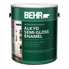 BEHR 1 gal. White Alkyd Semi-Gloss Enamel Interior/Exterior Paint-390001 - The Home Depot