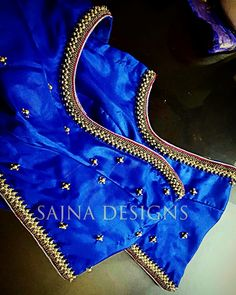 Pattu Saree Blouse Designs, Blouse Designs Silk, Designer Blouse Patterns, Blouse Back Neck Designs, Bridal Blouse Designs, Churidar Designs, Lehenga Designs, Designer Dresses, Hand Work Blouse Design