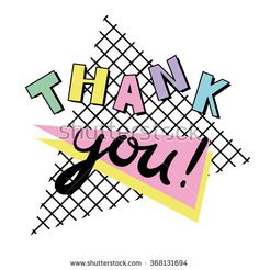 Thank You  Card Template In Retro Eighties Style   S  S